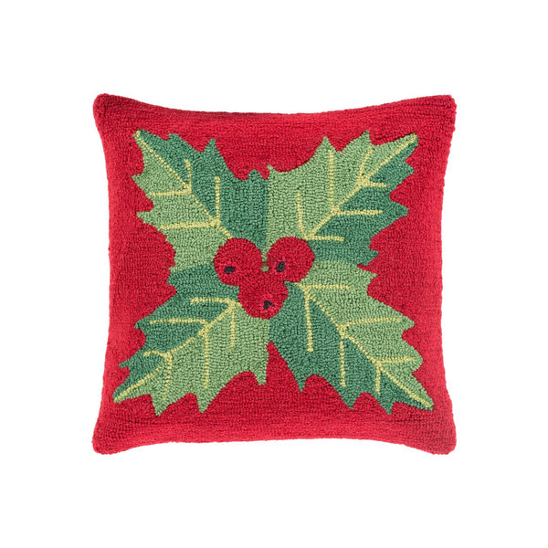 Holiday Throw Pillow - Berry