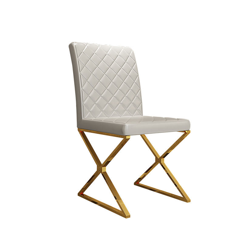 Contemporary Design  Upholstered  Dining Chair with Gold stainless steel