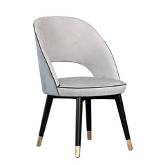 Contemporary Design PU Leather Dining Chair Upholstered Side Chair Stainless Leg