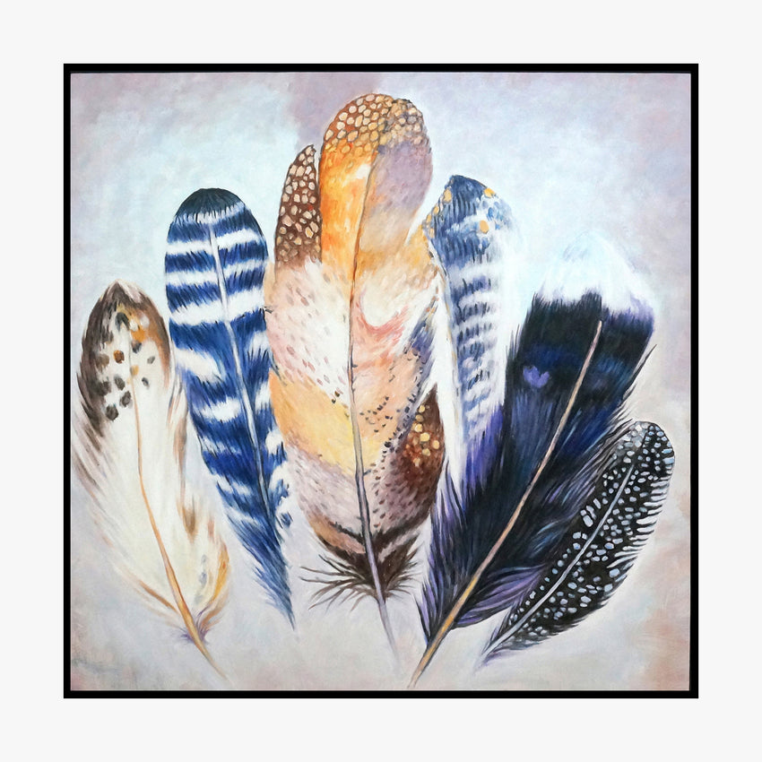 Oil Painting - Feather