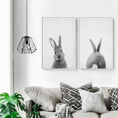 Framed Wall Art - Rabbit