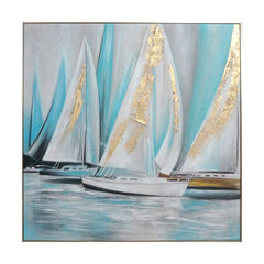 Oil Painting - Sailboat-Blue