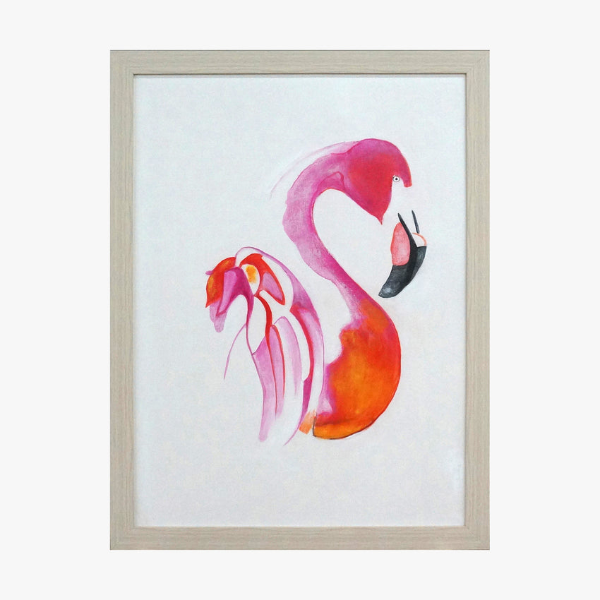 Framed Wall Art - Flamingo Pink