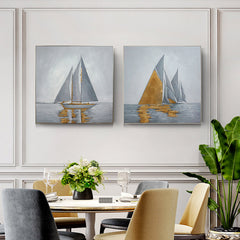 Oil Painting - Sailboat Gold