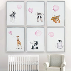 Framed Wall Art - Animal with  Balloon