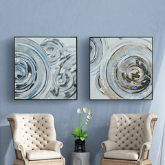 Oil Painting - Cycle - Abstract Art