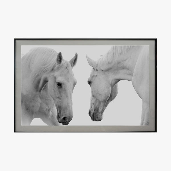 Crystal Painting - Horse, Black & White