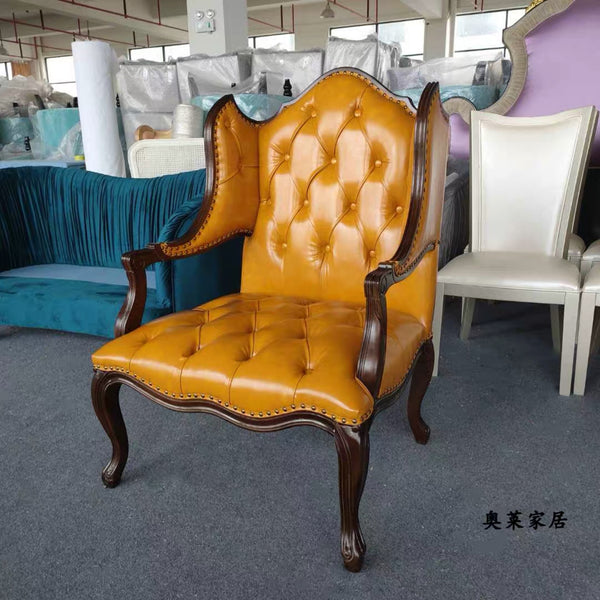 Vintage Continental Orange or black Chair