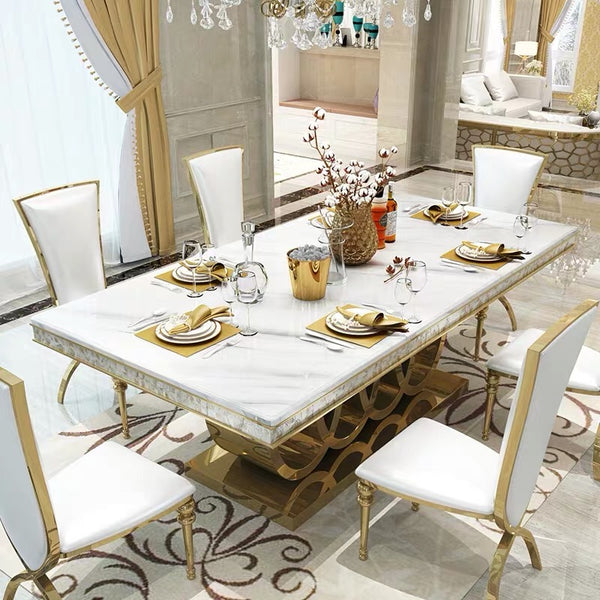 Luxury Contemporary design  Marble Dining Table Rectangular Table