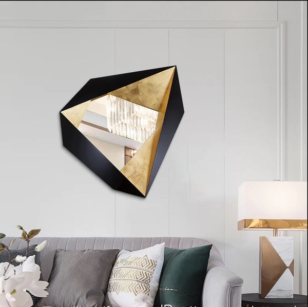 Contemporary European Style Modern Luxury Metal Wall Decor Decorative Mirror