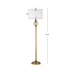 "Gold Finish Sphere 61.5"" Floor Lamp"