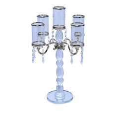 Tall Handcrafted 5 Arm Crystal Candelabra
