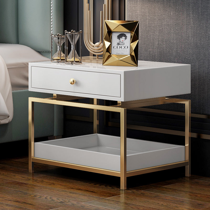 Modern Nightstand Side Table - End Table with 2 Drawers ...