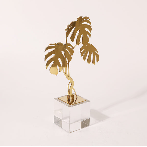 Decoration Sculpture Monstera Leaves Shape Ornaments