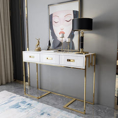 Console Table with 3 Drawers - Writing Desk