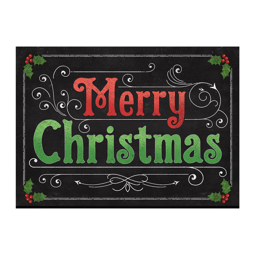 "Home Accents 1'10"" x 2'7"" Blackboard Christmas Doormat"