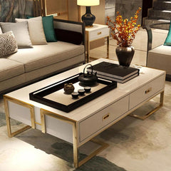 Modern Paint Coffee Table with gold frame