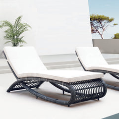 Patio Chaise Lounge Sets - Outdoor Rattan Patio Chaise Lounge