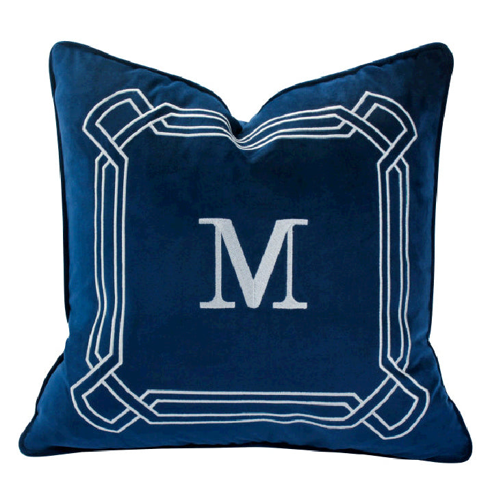 Alphabet Letter-M  Throw Pillow Versatile Decor Cushion