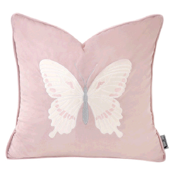 Novelty Butterfly Decorative Throw Cushion, Pink