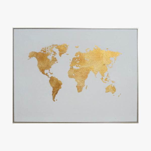 Oil Painting - World Map