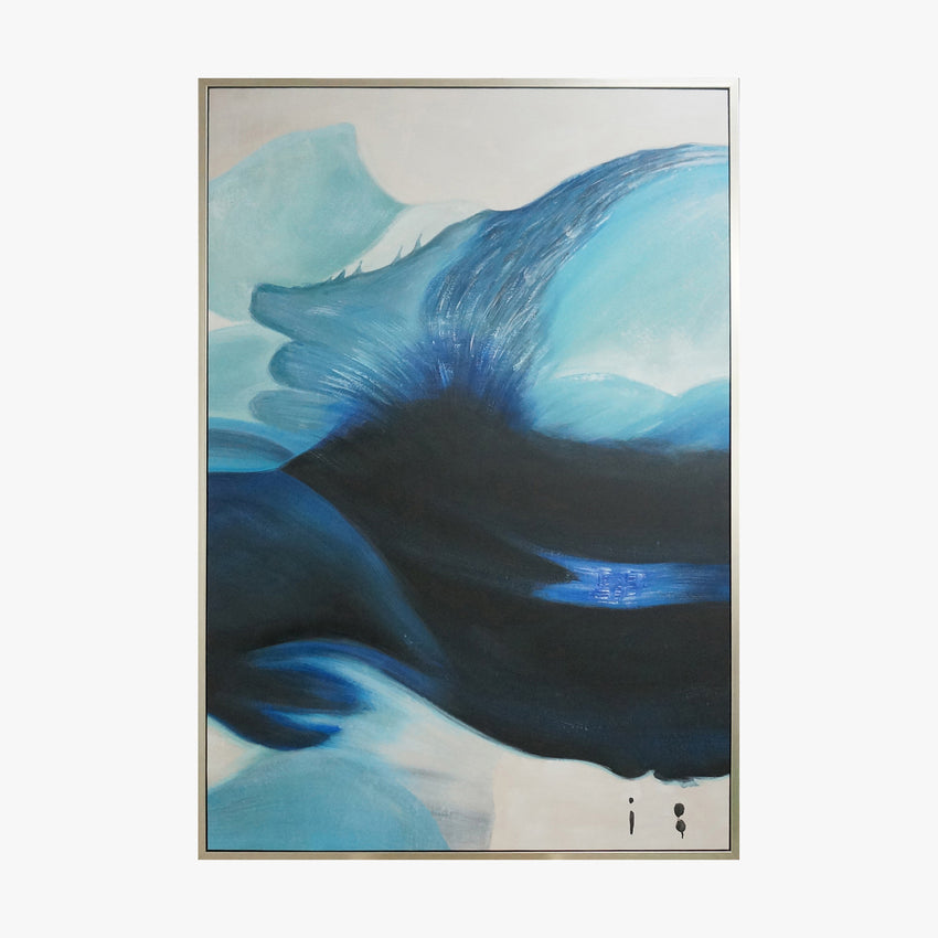 Oil Painting - Blue Wind - Abstract Art