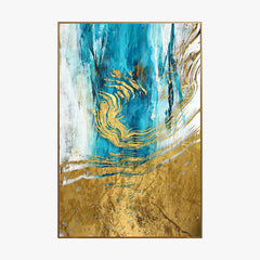Crystal Painting - Metal Watercolor - Gold