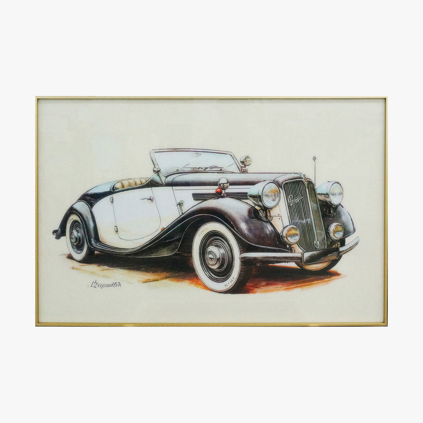 Cabriolet Old Fashioned Car Crystal Printing