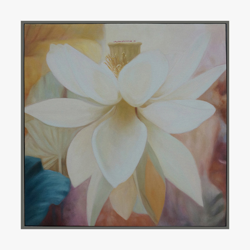 Oil Painting - White Flower