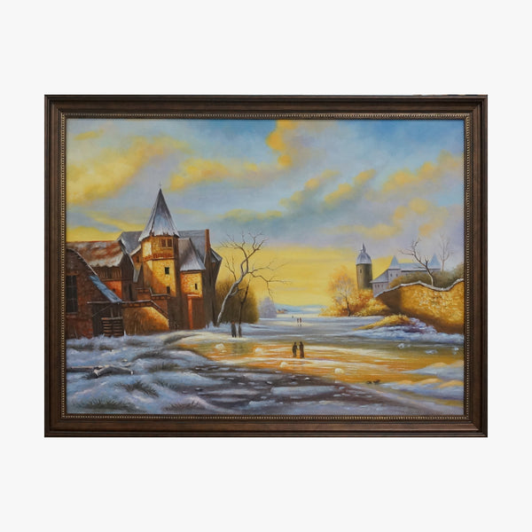Oil Painting - Snow scene