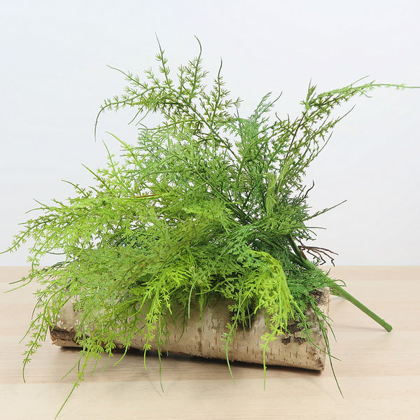 Artificial Asparagus - Asparagus Fern Bush Green Foliage Party Decor
