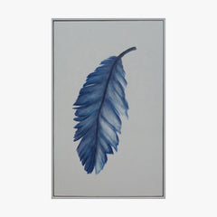 Framed Wall Art - Blue Feather