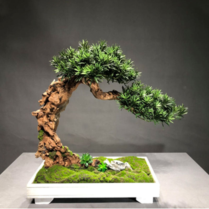 Ikebana Art - Artificial Guest-Greeting Pine with Pot