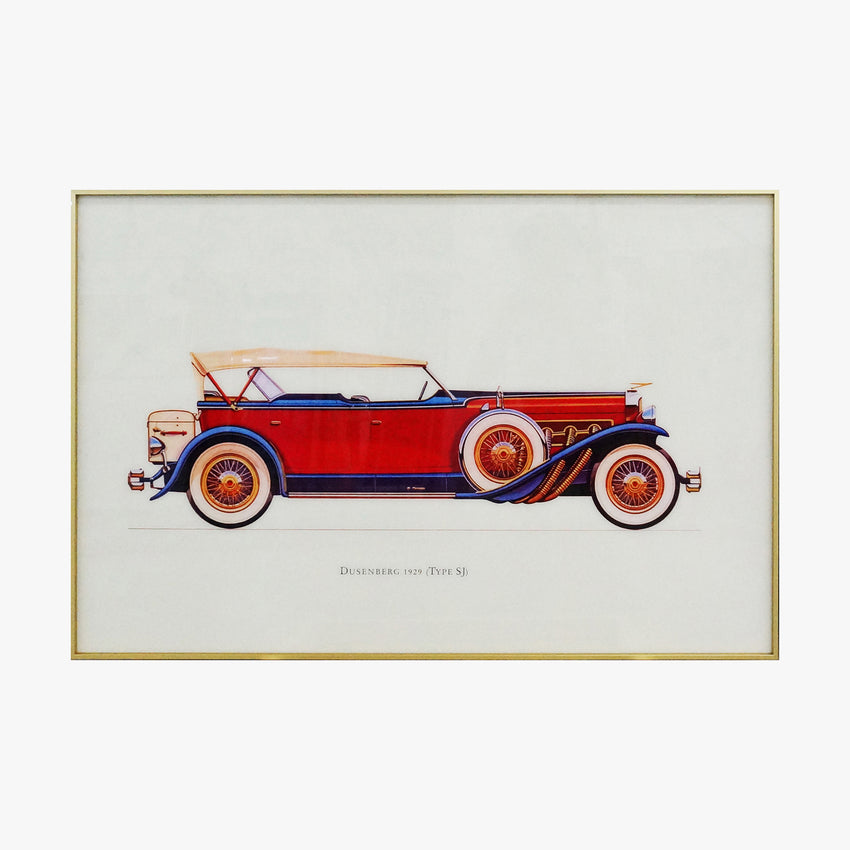 Duesenberg  1929 Old Fashioned Car Crystal Painting