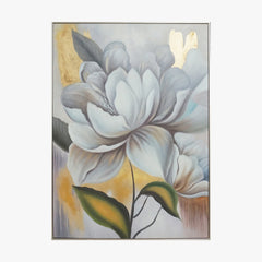 Oil Painting - White Rose