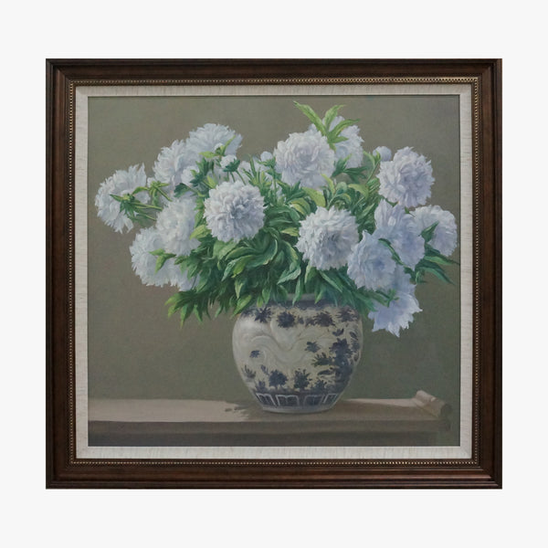 Oil Painting - Pompon Mum