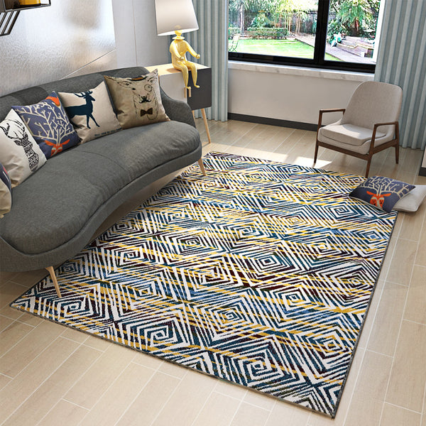 Luxury Abstract Geometric Modern Style Rugs 5.2' x 7.55'