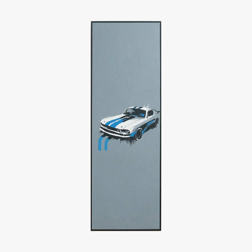 Oil Painting - Car blue&white