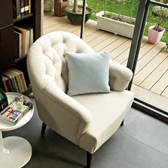 Luxurious Accent Armchair, Cream-colored