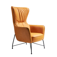 Vintage Butterfly Armchair with Steel Legs, Bright Orange