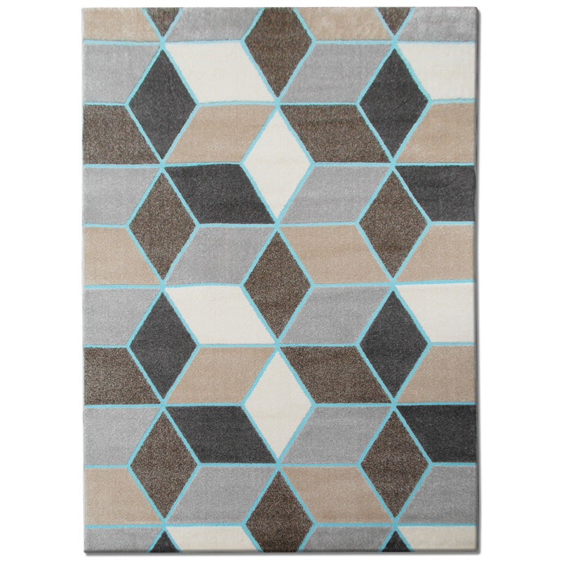 Modern Geometric Neutral Rug