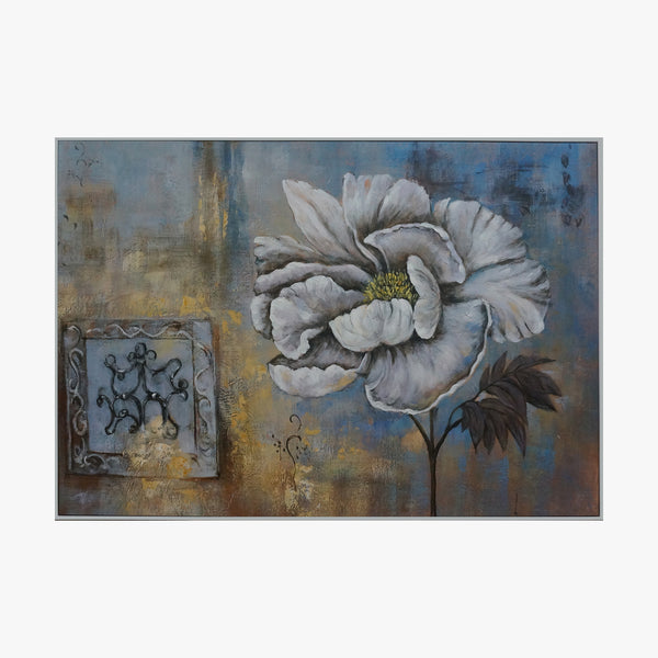 Oil Painting - Blue Flower