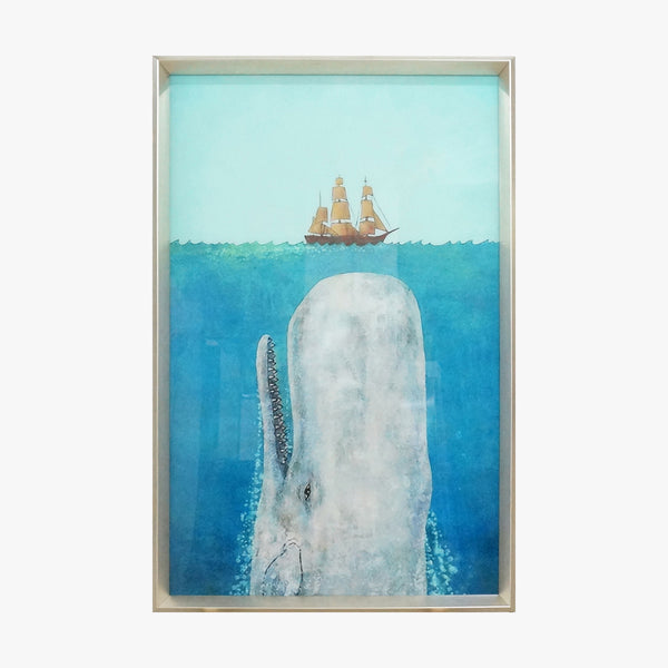 Crystal Painting - Whale and Boat