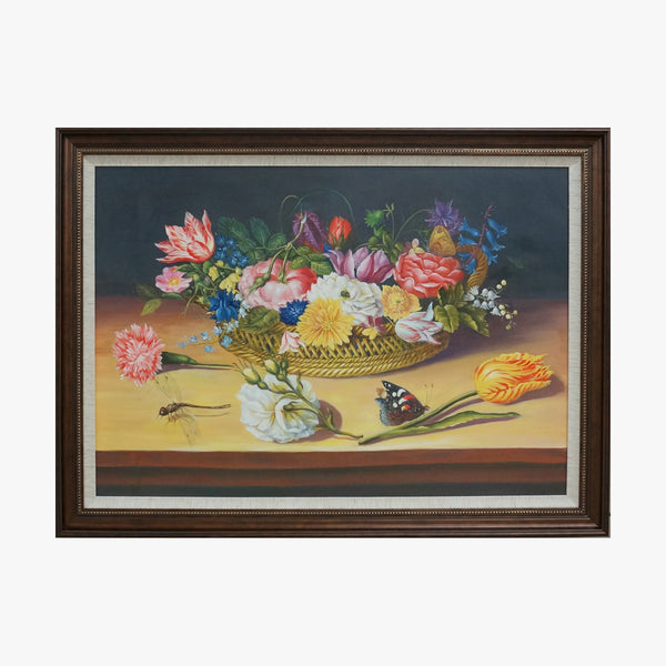 Oil Painting - Ikebana art