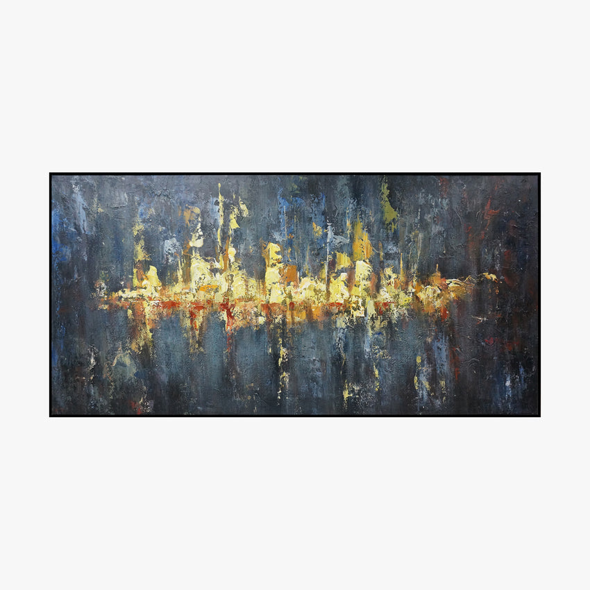 Oil Painting - Gold - Abstract Art