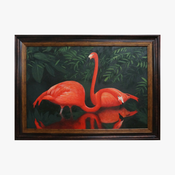Oil Painting - Flamingo