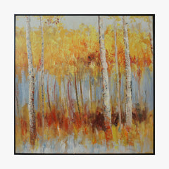 Oil Painting - Birch forest