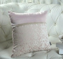 gouache stitching velvet pillow cushion