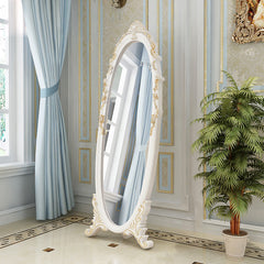 Full Length Wood Floor Mirror - Standing Mirror - Dressing Mirror, White