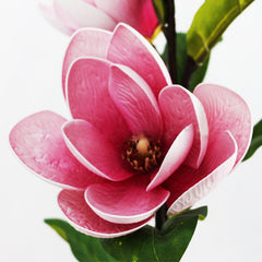 4 Heads Artificial Magnolia for Wedding Party Home